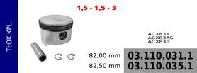 tłok kompresora 82,00 mm