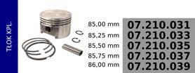 tłok kompresora 85,00 mm