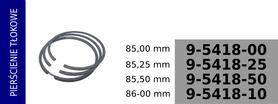 Pierścienie tłokowe kompresora 85,00 mm