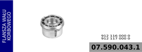 flansza wału kompresora 912 116 000 0