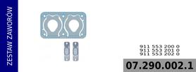 Zestaw zaworów kompresora 911 553 200 0