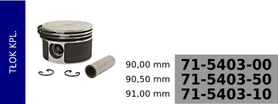 tłok kompresora 90,00 mm