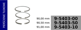 Pierścienie tłokowe kompresora 90,00 mm