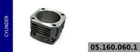Cylinder kompresora 100 mm - chłodzony powietrzem
