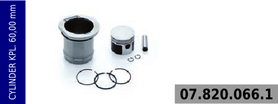 Cylinder kompresora 60 mm - kompletny