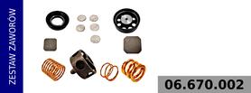 Zestaw zaworów kompresora  100 mm RVI