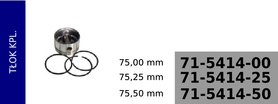 tłok kompresora KZ433