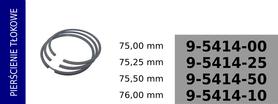 Pierścienie tłokowe kompresora KZ433