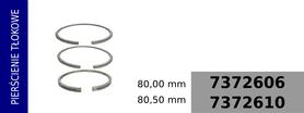 pierścienie tłokowe 80,00 mm