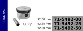 tłok kompresora 92,00 mm