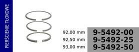 pierścienie tłokowe kompresora 92,00 mm