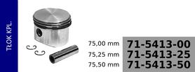 tłok kompresora 75,00 mm