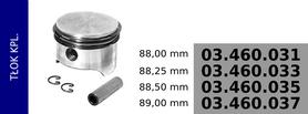Tłok kompresora 88,00 mm