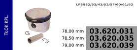tłok kompresora 78,00 mm