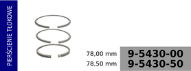 pierścienie tłokowe kompresora 78,00 mm