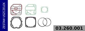 zestaw uszczelek kompresora LK3802