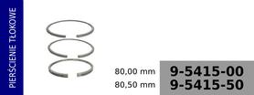 Pierścienie tłokowe kompresora 80,00 mm