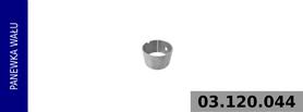 panewka wału korbowego Ø 44x40x26