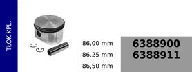 Tłok kompresora kompresora 86,00 mm