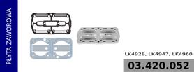 płyta zaworowa kompresora LK4928